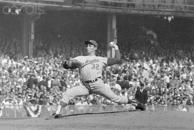 Sandy Koufax Pitching in World Series