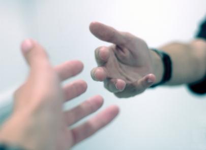 extending hands
